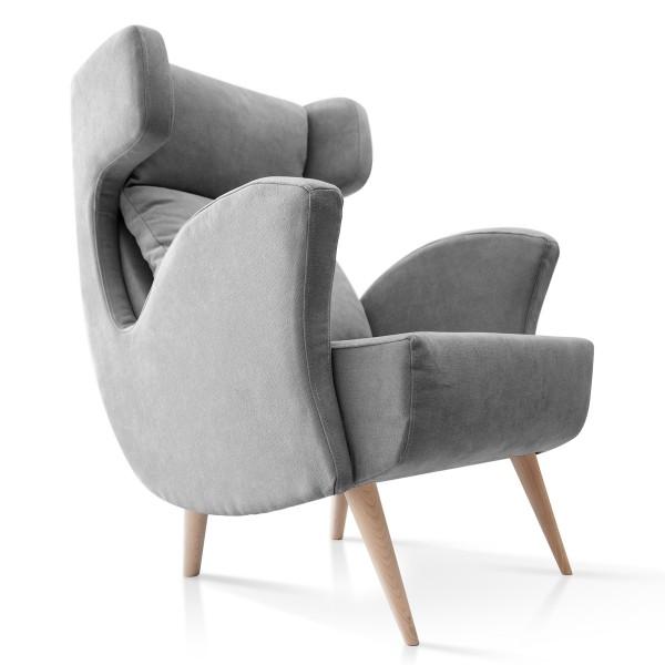 sillón estilo nórdico